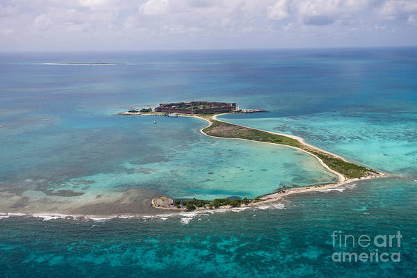 Wall Art - Photograph - Fort Jefferson Aerial View Dry Tortugas National Park by Jason O Watson