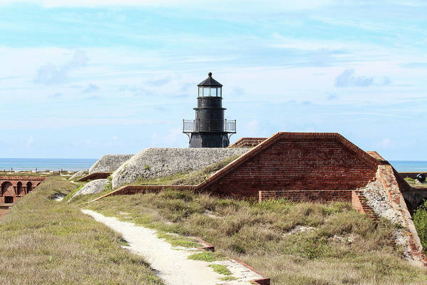 Photograph - Fort Jefferson Lighthouse 2 by Teresa Wilson