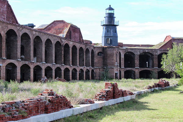 Photograph - Fort Jefferson Lighthouse by Teresa Wilson