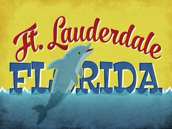 Advertisement Digital Art - Fort Lauderdale Florida Dolphin by Flo Karp