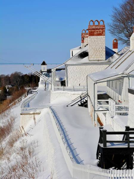Photograph - Fort Mackinac Profile by Keith Stokes