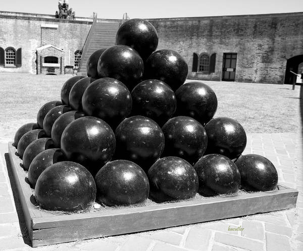 Harkers Island Photograph - Fort Macon Cannonball by Betsy Knapp