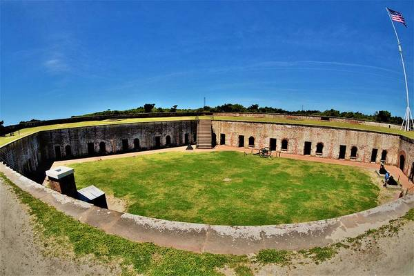 Battle Of The Atlantic Wall Art - Photograph - Fort Macon North Carolina by Lisa Wooten