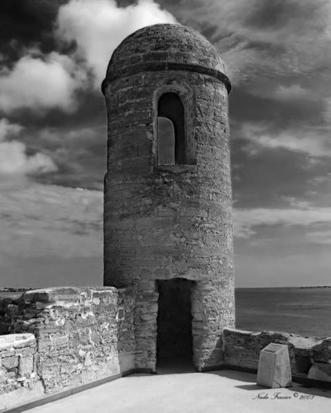 Castillo Wall Art - Photograph - Fort Marion Tower  by Nada Frazier