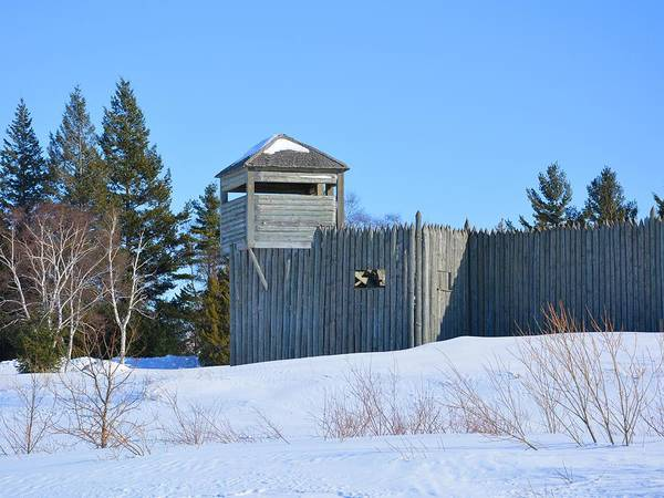 Photograph - Fort Michilimackinac Northeast Blockhouse by Keith Stokes