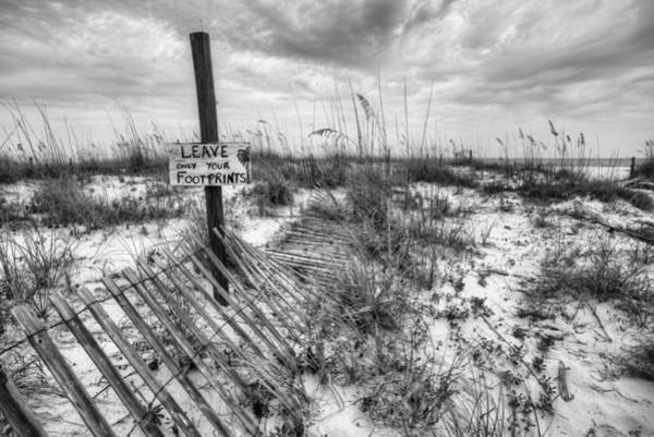 Photograph - Fort Morgan Beaches In Black And White by JC Findley