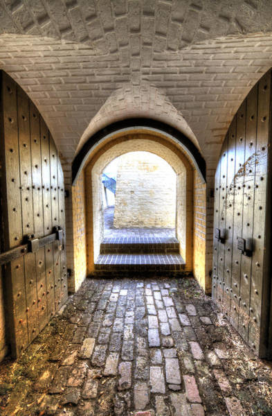 Photograph - Fort Moultrie Bunker Doors by Dustin K Ryan