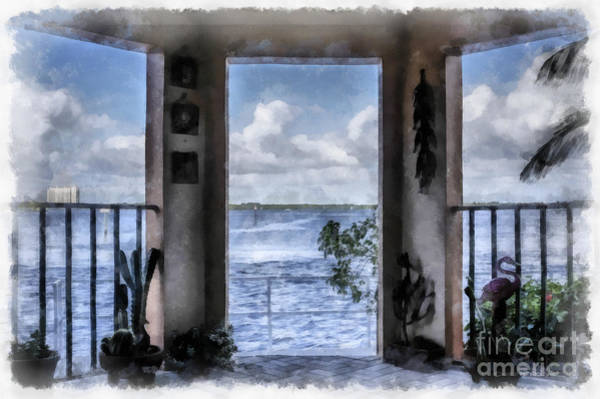 Ross Digital Art - Fort Myers Florida by Edward Fielding