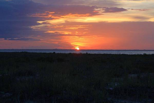 Photograph - Fort Pickens Sunset by Richard Parks