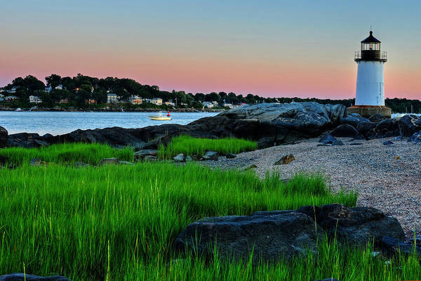 Pickering Photograph - Fort Pickering Light Through The Tall Grass Salem Ma by Toby McGuire