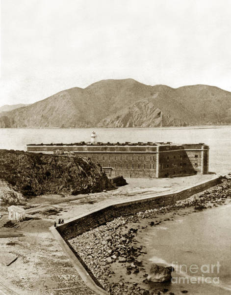 Photograph - Fort Point And The Golde Gate San Francisco Cal Circa 1870 by California Views Archives Mr Pat Hathaway Archives