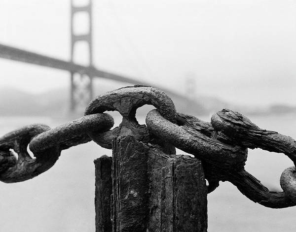 Chain Bridge Photograph - Fort Point by Hans Mauli