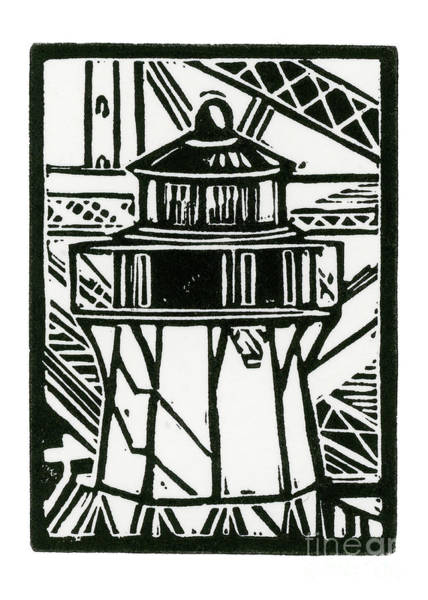 Wall Art - Mixed Media - Fort Point Lighthouse by Tom Taneyhill