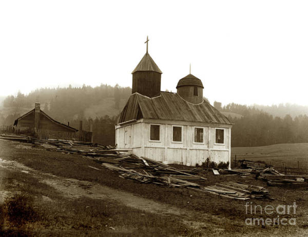 Photograph - Fort Ross, Chapel October 5, 1917   Sonoma County by California Views Archives Mr Pat Hathaway Archives