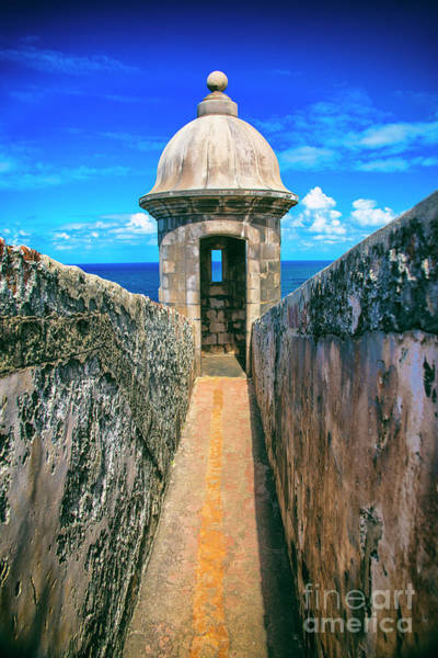Sentry Box Photograph - Fort San Juan Puerto Rico by Kasia Bitner