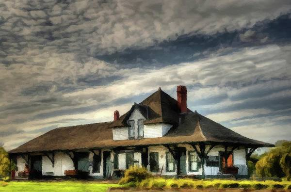 Photograph - Fort Saskatchewan Railway Station Alberta Canada  by David Dehner