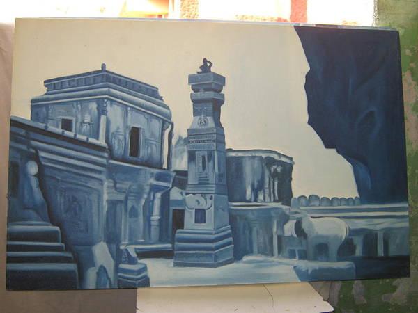 Wall Art - Painting - Fort Scene by Gayatri Maheshwari