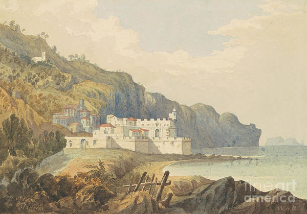 Sea Land Painting - Fort St Lago, Madeira by William Brenton Boggs
