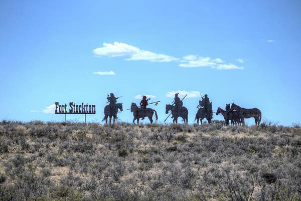 Wall Art - Photograph - Fort Stockton Native American Silhouettes  by JC Findley