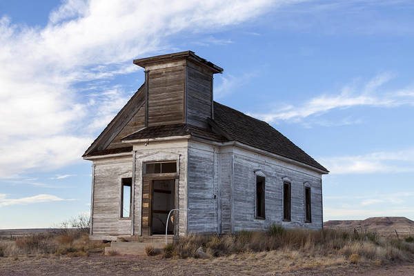 Photograph - Fort Sumner - Abandoned Church by Liza Eckardt