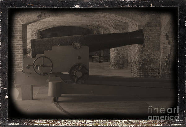 Fort Sumpter Photograph - Fort Sumpter Cannon by Tommy Anderson