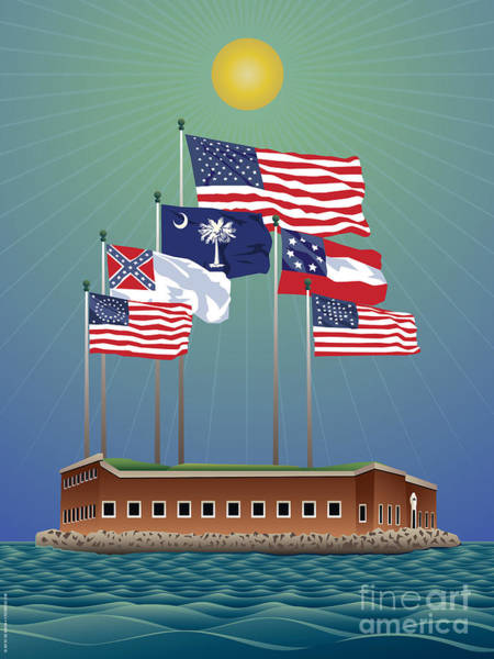 Us Civil War Digital Art - Fort Sumter, Charleston, Sc by Joe Barsin