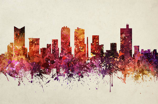 Fort Worth Digital Art - Fort Worth Cityscape 09 by Aged Pixel