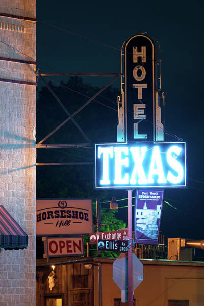 Fort Worth Hotel Texas 6616 Art Print
