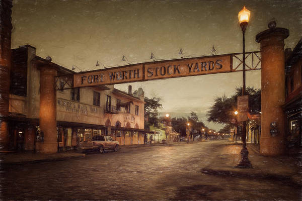 Photograph - Fort Worth Impressions Stockyards by Joan Carroll