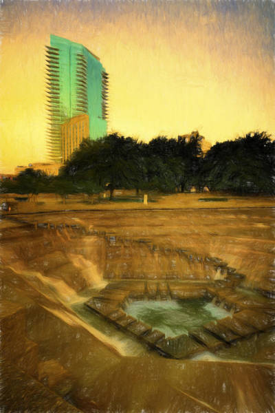 Photograph - Fort Worth Impressions Water Gardens II by Joan Carroll