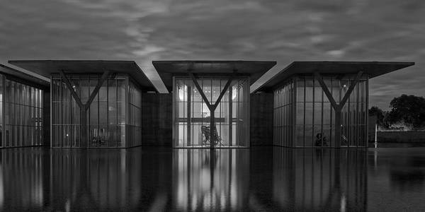 Photograph - Fort Worth Modern Art Museum Bw by Jonathan Davison