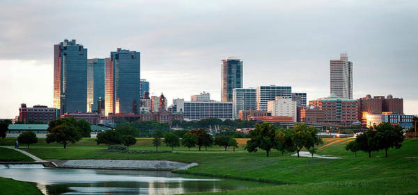 Photograph - Fort Worth Pano 110516 by Rospotte Photography