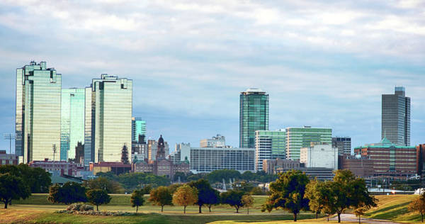 Photograph - Fort Worth Skyline 111416 by Rospotte Photography