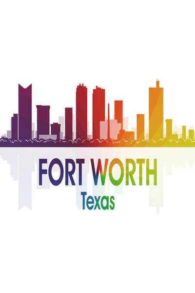 Wall Art - Digital Art - Fort Worth Tx 1 Vertical by Angelina Tamez