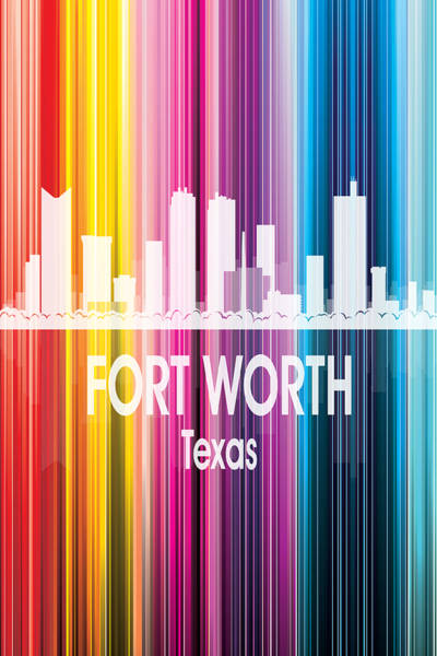 Wall Art - Digital Art - Fort Worth Tx 2 Vertical by Angelina Tamez