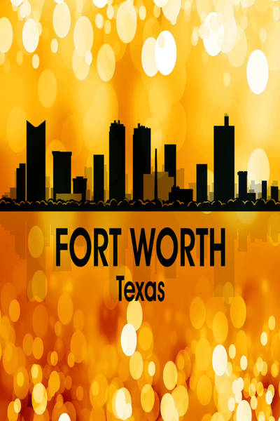 Wall Art - Digital Art - Fort Worth Tx 3 Vertical by Angelina Tamez