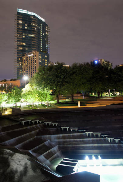 Photograph - Fort Worth Water Gardens 4718 by Rospotte Photography