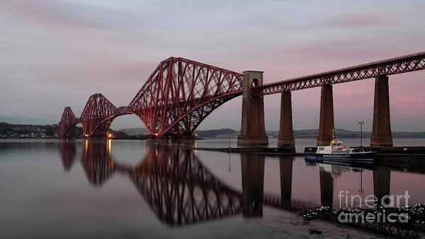 Photograph - Forth Bridge At Sunset by Maria Gaellman