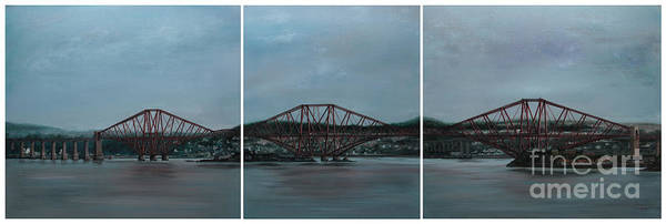 Fife Painting - Forth Bridge Triptych by Linden Hopwood