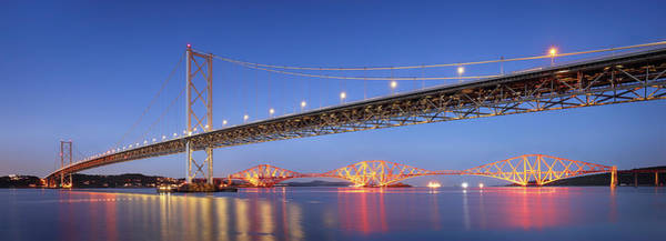 Photograph - Forth Bridges by Grant Glendinning