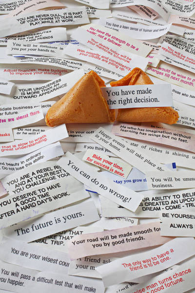 Language Photograph - Fortune Cookie Sayings  by Garry Gay