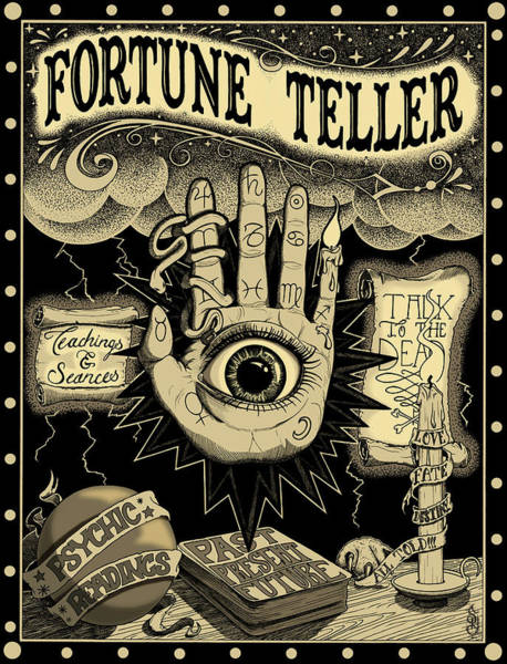 Future Mixed Media - Fortune Teller by Steve Hartwell
