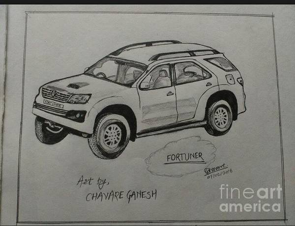Ganesh Drawing - Fortuner  by Ganesh Chavare