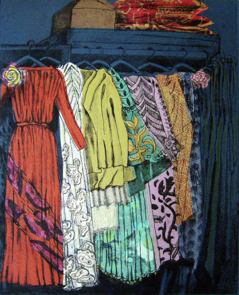 Clothing Design Mixed Media - Fortuny Closet #4 by Karen Coggeshall