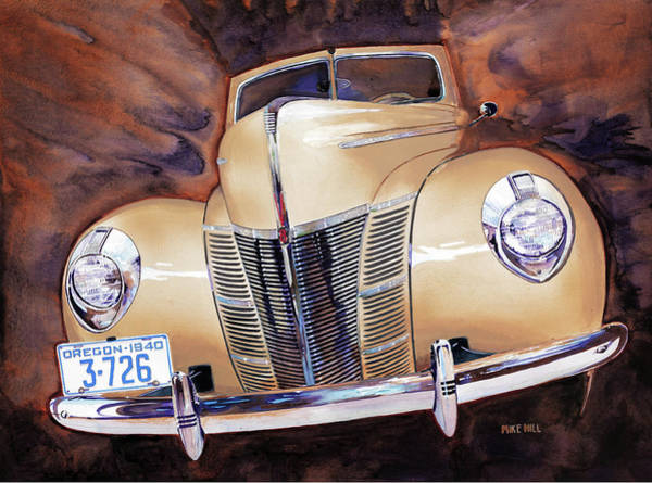 Victoria Harbor Wall Art - Painting - Forty Ford by Mike Hill