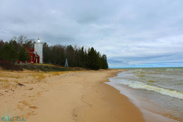Lighthouse Wall Art - Photograph - Forty Mile Point Lighthouse by Michael Rucker