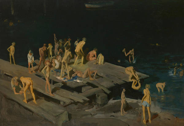 Sunbathing Painting - Forty Two Kids by George Wesley Bellows