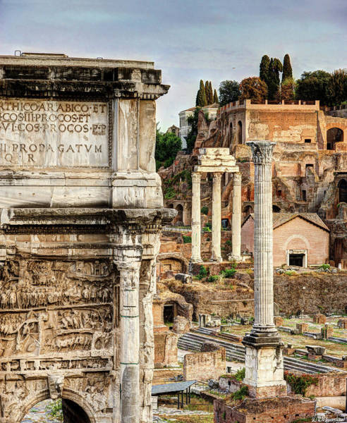 Photograph - Forum And Palatine by Weston Westmoreland