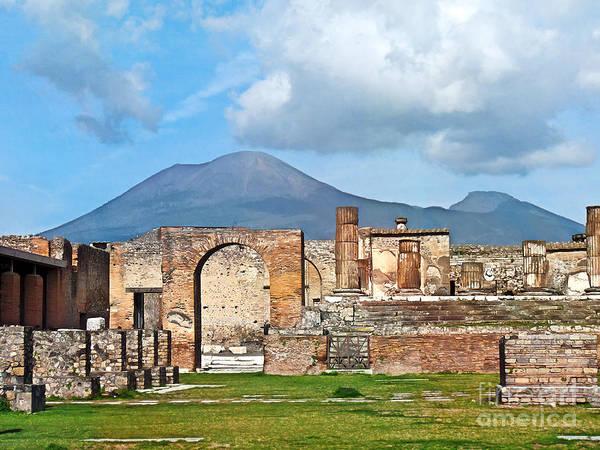 Photograph - Forum Pompeii by Lutz Baar
