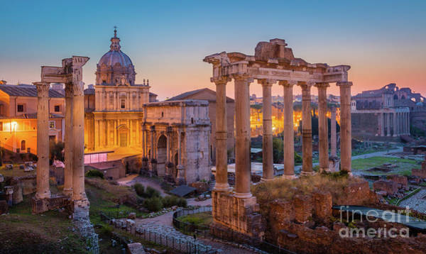 Basilica Photograph - Forum Romanum Dawn by Inge Johnsson